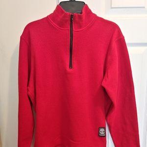 Timberland Red Fleece 3/4 Zip-Up Jacket Size Large